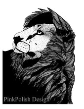 Load image into Gallery viewer, Lion Pride - Animal Ink Drawing - Art Print