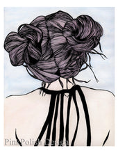 Load image into Gallery viewer, Nice Buns - Hair Style Inspired Watercolor Painting - Art Print