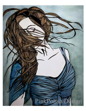 Load image into Gallery viewer, Twirl - Freedom Inspired Portrait Watercolor Painting - Art Print