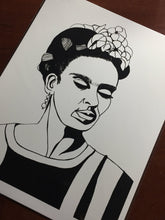 Load image into Gallery viewer, Frida - Artist Portrait Ink Drawing - Art Print