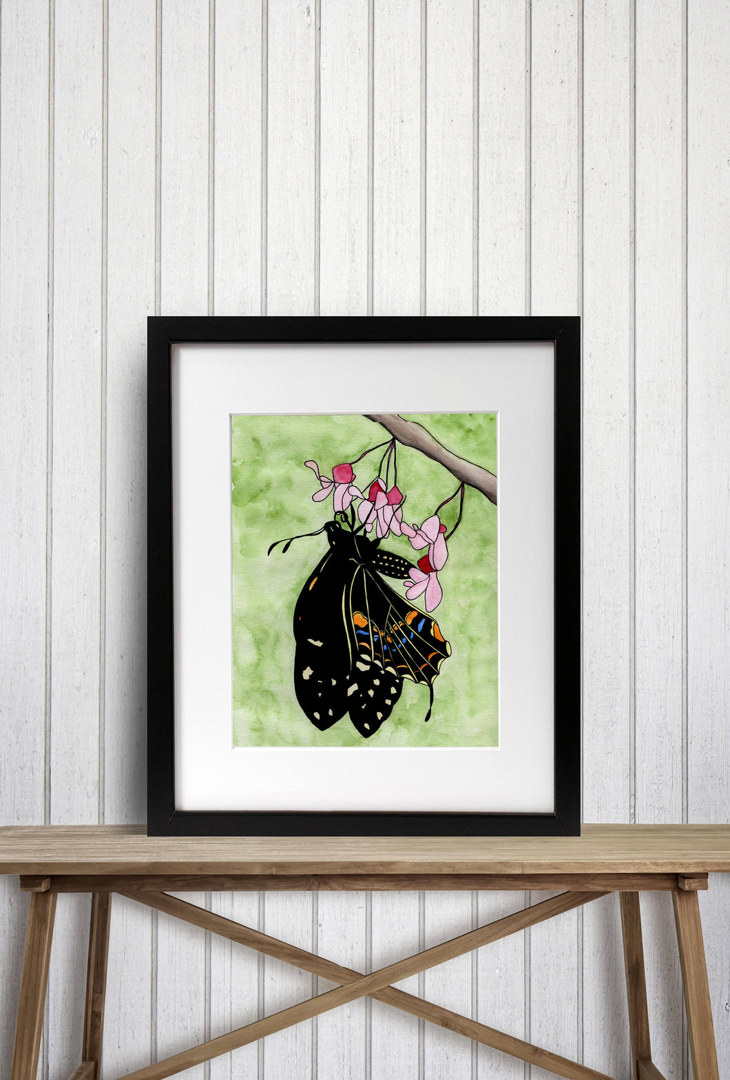 Flutterbye Original Watercolor of Butterfly - Art Print