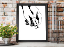 Load image into Gallery viewer, Together - Holding Hands Original Ink Drawing - Art Print