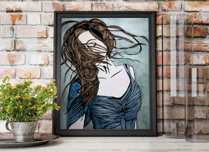 Twirl - Freedom Inspired Portrait Watercolor Painting - Art Print