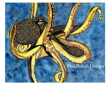 Load image into Gallery viewer, Octopus Genius - Nautical Watercolor Painting - Art Print