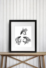 Load image into Gallery viewer, Betta Triquetra - Magic Inspired Ink Drawing - Art Print