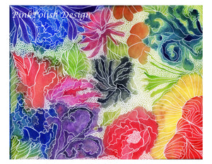Floral Invention - Abstract Floral Watercolor Painting - Art Print