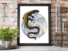 Load image into Gallery viewer, Lizard Sphere - Nature Inspired Watercolor Painting - Art Print