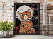 Load image into Gallery viewer, Space Kitty - Fantasy Inspired Watercolor Painting - Art Print