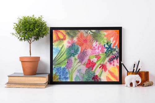 Floral Creation - Abstract Floral Watercolor Painting - Art Print