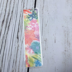 Floral Creation, 2-Sided Bookmark - Abstract Floral Watercolor Painting Art Print