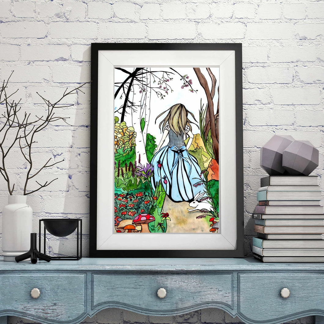 Alice - Lewis Carroll's Wonderland Inspired Watercolor Painting - 11