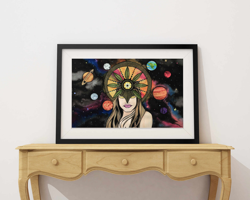 Celestial - Sun Goddess Inspired Watercolor Painting - 11