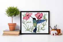 Load image into Gallery viewer, Nectar - Hummingbird Inspired Watercolor Painting - Art Print