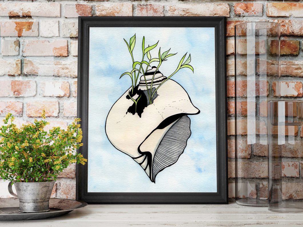 Tenacious Sprout - Beautiful Broken Things Watercolor Painting - Art Print