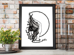 Rapunzel - Fairy Tale Illustration - Art Print