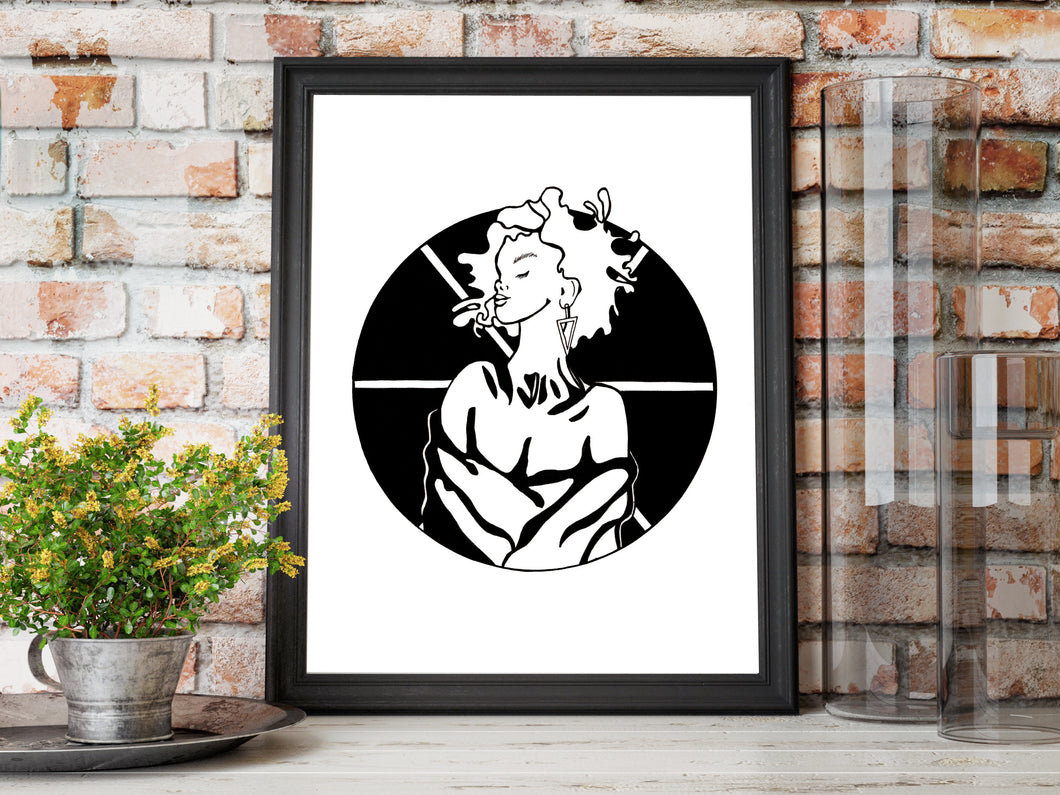 Asterisk - Inspired by Strong Women Illustration - Art Print