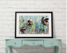 "Load image into Gallery viewer, Quest of the Goldfish - Sea Life Inspired Watercolor Painting - 11""x17"" Art Print"