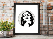 Load image into Gallery viewer, Static - Crumbling Statue Inspired Ink Drawing - Art Print