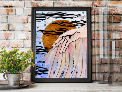 Icarus - Greek Mythology Inspired Watercolor Painting - Art Print