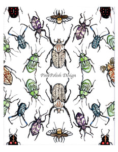 Beetle Repetition - Insect Inspired Watercolor Painting - Art Print