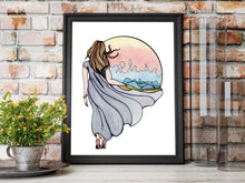 Load image into Gallery viewer, Shape Your World - Fantasy Inspired Watercolor Painting - Art Print