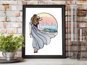 Shape Your World - Fantasy Inspired Watercolor Painting - Art Print