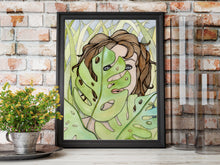Load image into Gallery viewer, In the Weeds - Fantasy Inspired Watercolor Painting - Art Print