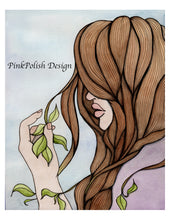 Load image into Gallery viewer, Split Ends - Fantasy Inspired Watercolor Painting - Art Print