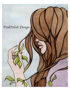 Split Ends - Fantasy Inspired Watercolor Painting - Art Print