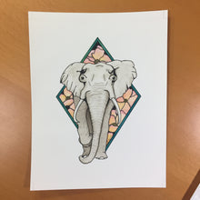 Load image into Gallery viewer, Elle Elephant - Animal Inspired Original Watercolor & Ink Illustration
