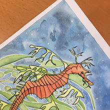 Load image into Gallery viewer, Sea Dragon - Sea Horse Inspired Original Watercolor & Ink Illustration