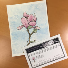 Load image into Gallery viewer, Patched Magnolia - Beautiful Broken Things Inspired Original Watercolor & Ink Illustration