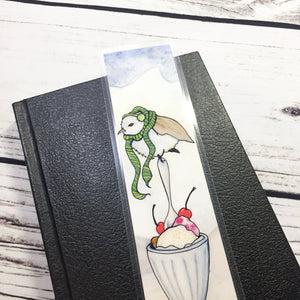 Chilly Bird, 2-Sided Bookmark - Storybook Inspired Watercolor Painting Art Print
