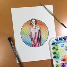 Load image into Gallery viewer, Towering - Strong Women Inspired Original Watercolor & Ink Illustration