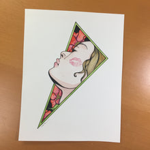 Load image into Gallery viewer, The Kiss - Romance Inspired Original Watercolor & Ink Illustration