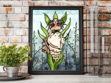 Load image into Gallery viewer, Shell Siren - Mermaid Inspired Watercolor Painting - Art Print