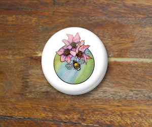 Bumble - Pin Back Art Button, 2.25""