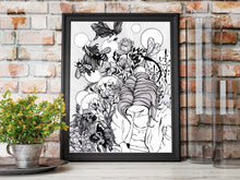 Load image into Gallery viewer, Creativity - Artist Self Portrait Ink Drawing - Art Print