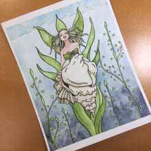 Load image into Gallery viewer, Shell Siren - Mermaid Inspired Original Watercolor & Ink Illustration