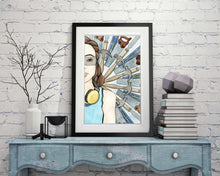 "Load image into Gallery viewer, Wood Shop - Strong Woman Inspired Watercolor Painting - 11""x17"" Art Print"