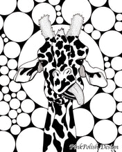 Load image into Gallery viewer, Cameleopard - Giraffe Inspired Ink Drawing - Art Print