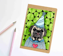 Load image into Gallery viewer, Party Animal, Pet Inspired Notebook / Sketchbook / Journal
