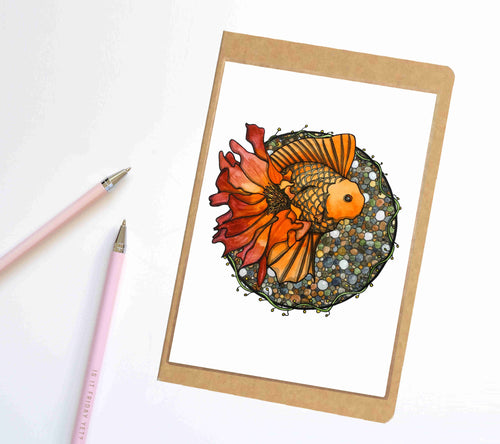 Blooming Goldfish, Fish Inspired Notebook / Sketchbook / Journal