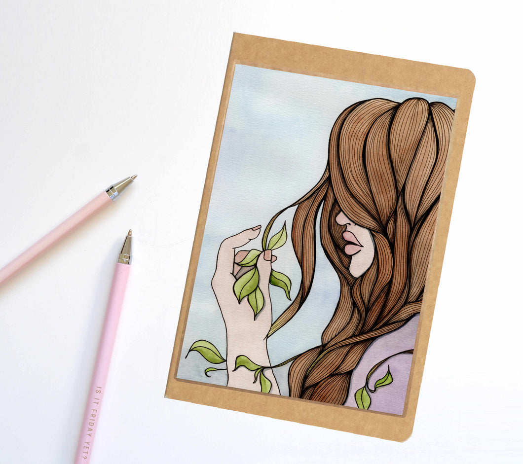 Split Ends, Fantasy Inspired Notebook / Sketchbook / Journal