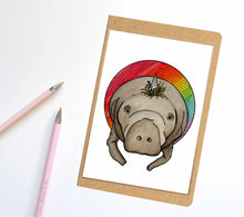Load image into Gallery viewer, Manticorn, Unicorn Horned Manatee Inspired Notebook / Sketchbook / Journal