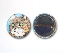 Load image into Gallery viewer, Cuddly Cat Button Pack - 3-Pack Pin Back Button, 1 Inch