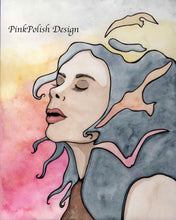 Load image into Gallery viewer, Take Flight - Fantasy Inspired Watercolor Painting - Art Print