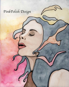 Take Flight - Fantasy Inspired Watercolor Painting - Art Print