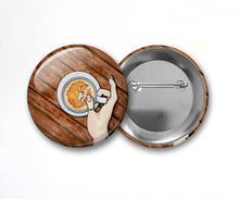 Load image into Gallery viewer, Foxy Coffee - Pin Back Art Button, 2.25""