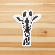 Load image into Gallery viewer, Sister Giraffe, Animal Inspired Watercolor Painting - Vinyl Die Cut Sticker